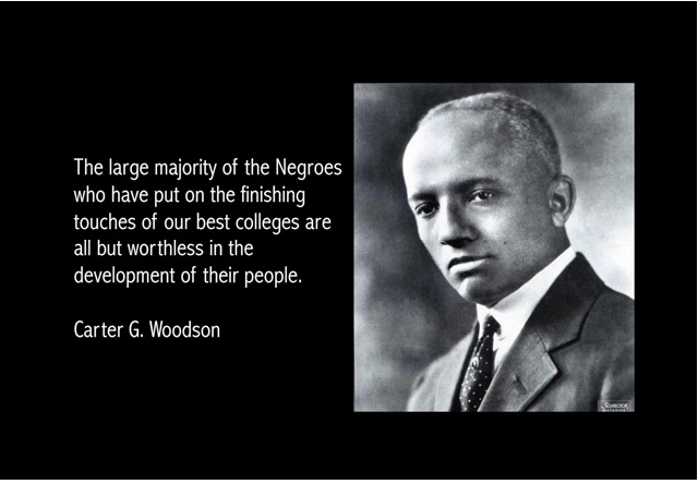 "carter g woodson essay Carter g woodson was an educated advocate of the african american culture  he was the son of enslaved african americans who earned the nickname ""the."